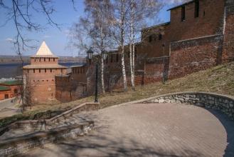 Нижегородский Кремль. Спуск к Ивановской башне. Фото
