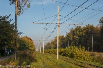 Трамвайные столбы. Фото проспекта Молодежного