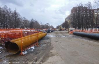 Реконструкция Молодежного. Вид от перекрестка с ул. Ватутина