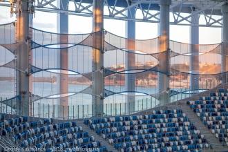 Вид на город с трибун стадиона