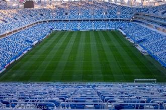 Стадион Нижний Новгород. Вид на поле с трибуны B