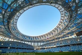 Стадион Нижний Новгород. Съемка широкоугольником