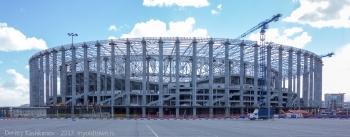 Строительство стадиона на Стрелке. Фото. Апрель 2017