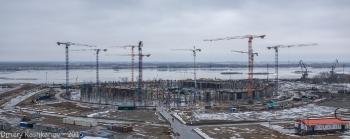 Строительство стадиона на Стрелке к Чемпионату мира 2018 г.