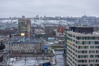 Серые панорамы осеннего Нижнего Новгорода