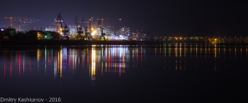 Нижний Новгород. Стрелка и Седьмое небо. Ночное фото