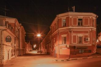 Кожевенная улица. Ночное фото. Нижний Новгород