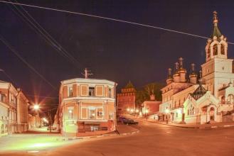 Кожевенная улица и Ивановский съезд. Ночное фото
