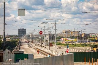 Ремонт Молитовского моста через Оку. Фото