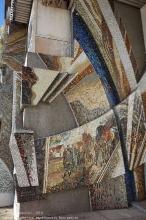 Калининградская область. Правдинск. Дом культуры. Мозаичное панно на фасаде