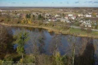 Правдинск. Фото Мельничного пруда с обзорной площадки церкви Святого Георгия