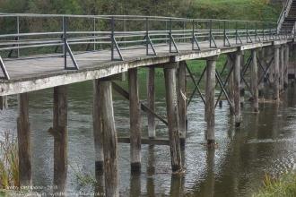 Правдинск. Пешеходный мостик через речку Лаву