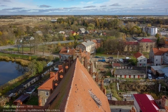 Правдинск. Фото с обзорной площадки церкви Святого Георгия