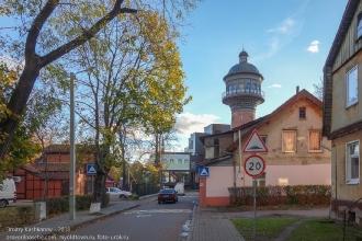 Зеленоградск. Улица Ткаченко. Старые немецкие дома и водонапорная башня
