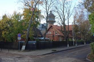 Зеленоградск. Водонапорная башня. Вид с улицы Московской