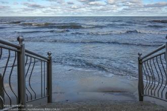 Набережная Зеленоградска. Спуск на пляж