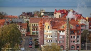 Зеленоградск. Смотровая площадка на вершине водонапорной башни. Осенние фото