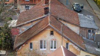 Черепичные крыши старых немецких домиков. Зеленоградск