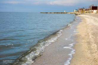 Ейск. Зимнее фото пляжа на Азовском море