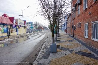 Ейск. Улица пляжная. Фото сделано в январе
