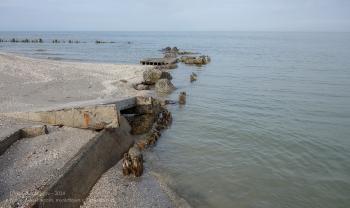 Зимний пляж на Азовском море. Ейск