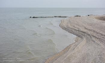 Ейск зимой. Самый конец пляжного мыса. Таганрогский залив