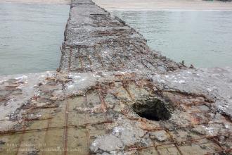 Ейск. Азовское море. Зимнее фото. Старый волнорез