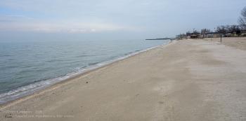 Зимнее фото пляжа на Азовском море. Ейск