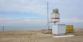 Пляж на Азовском море. Зимнее фото. Ейск