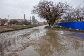 Ейск. Улица Железнодорожная. Зимнее фото
