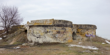 Ейск. Старые очистные сооружения на берегу Азовского моря