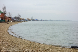Ейск. Берег Азовского моря в районе ул. Железнодорожной
