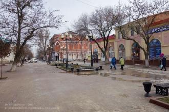 Ейск. Улица Свердлова. Январь
