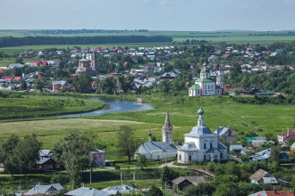 Ильинский луг, река Каменка, церкви города Суздаль