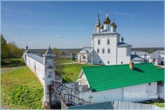 Николо-Троицкий мужской монастырь. Гороховец. Вид с заградительного вала