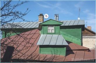 Город Гороховец. Крыша дома