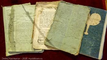 Рукописи на столе купца Ершова. Гороховец. Музей