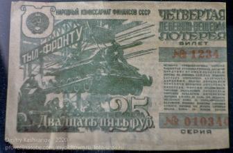 Тыл фронту. Денежно-вещевая лотерея. 25 рублей