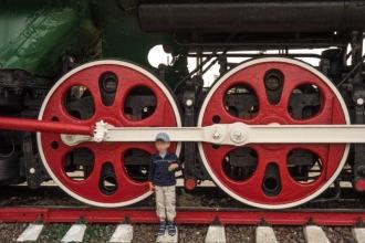 Колеса скоростного паровоза Л0818