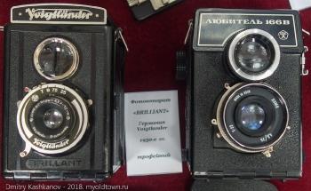 Старые пленочные фотоаппараты: Бриллиант и Любитель 166В