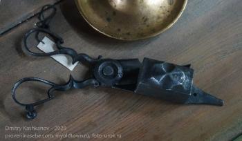 Ножницы с коробочкой для обрезки фитиля свечки