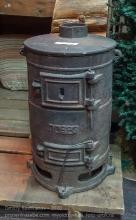 Чугунная печка-буржуйка
