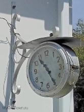 Часы уличные. Музей истории Волго-Донского канала в Пятиморске
